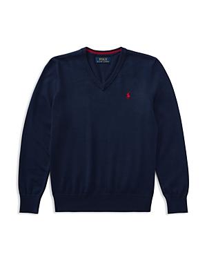 Ralph Lauren Childrenswear Boys' V-Neck Sweater - Big Kid