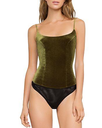 BCBGMAXAZRIA - Geelia Velvet Bodysuit