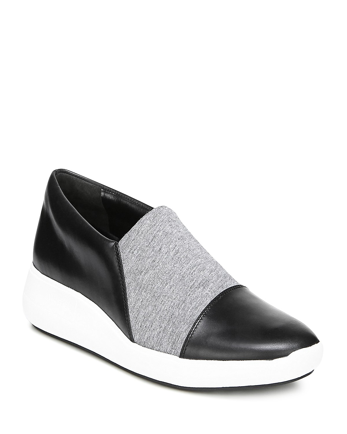 Via Spiga Women's Morgan Leather & Knit Platform Slip-On Sneakers AZOLCtx