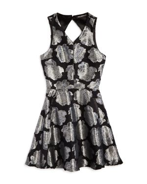 Miss Behave Girls' Lexi Metallic Floral Dress - Big Kid thumbnail