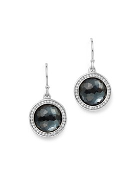 IPPOLITA - Sterling Silver Lollipop Diamond & Hematite Doublet Drop Earrings