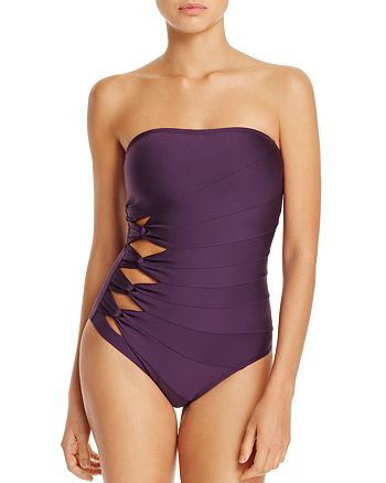 Carmen Marc Valvo - Twist Bandeau One Piece Swimsuit