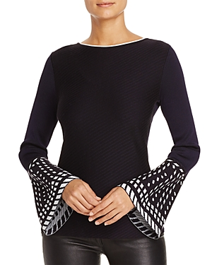 Nic+Zoe Falling Star Bell Sleeve Sweater