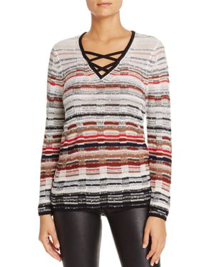 Nic+Zoe Red Hills Crossover Strap Sweater