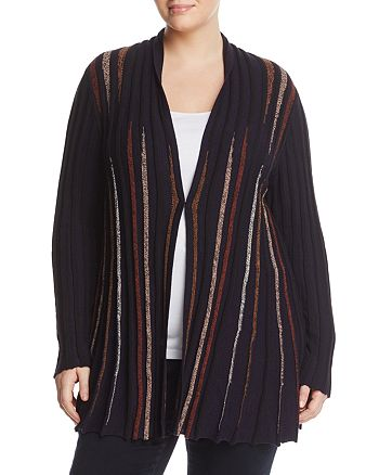 NIC and ZOE Plus - Ribbed Stripe Duster Cardigan