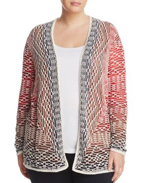 Nic+Zoe Plus Fireside Open Cardigan