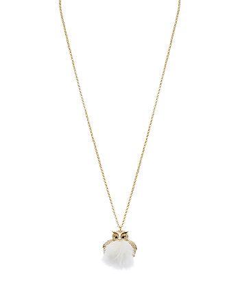 "kate spade new york - Owl Pendant Necklace, 30"""