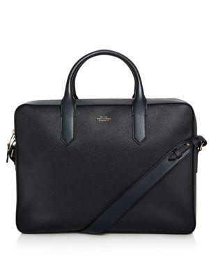 Smythson Panama Leather Slim Briefcase 2701787