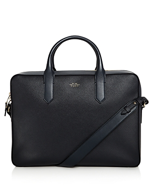 Smythson Panama Leather Slim Briefcase