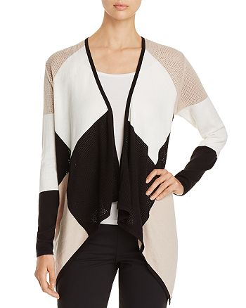 Avec - Draped Color Block Cardigan