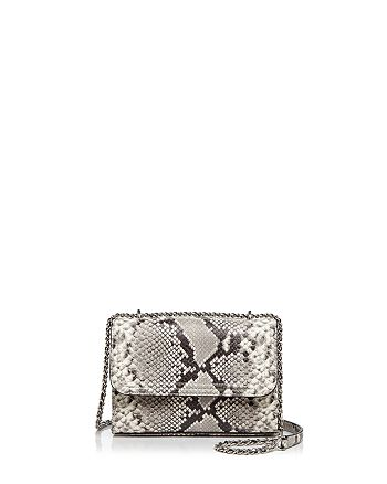 0b0f77029dc4 Tory Burch - Fleming Snakeskin Embossed Leather Small Convertible Shoulder  Bag