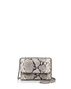 Tory Burch Fleming Snakeskin Embossed Leather Small Convertible Shoulder Bag 2720782