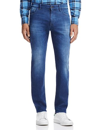 BOSS - Maine Straight Fit Jeans in Medium Blue