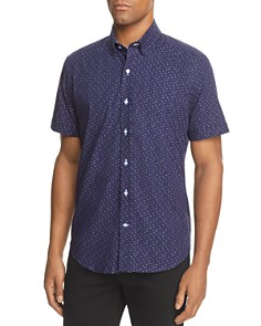 Robert Graham Tobias Embroidered Dot Short Sleeve Button-Down Shirt - 100% Exclusive - Bloomingdale's_0