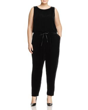 Eileen Fisher Plus Slouchy Velvet Jumpsuit