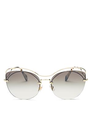 Miu Miu Mirrored Cat Eye Sunglasses, 60mm