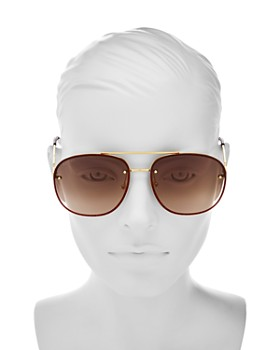 Gucci - Women's Glitter Aviator Sunglasses, 62mm