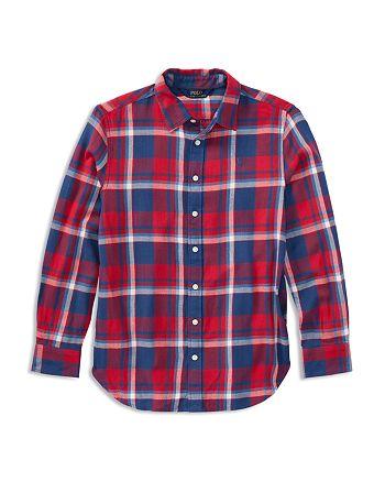 Ralph Lauren - Girls' Plaid Flannel Shirt - Big Kid