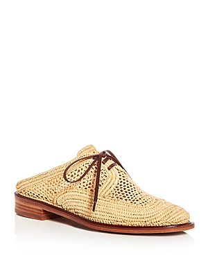Robert Clergerie Women's Jaly Raffia Lace Up Mules