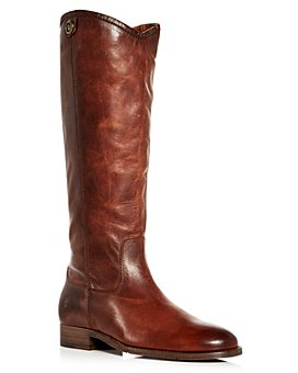 Frye - Women's Melissa Button 2 Extended Calf Leather Tall Boots