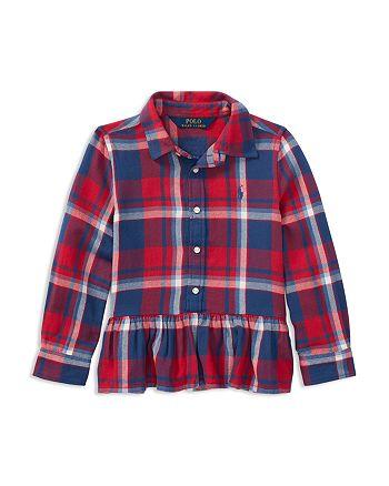 Ralph Lauren - Girls' Ruffled Plaid Shirt - Little Kid