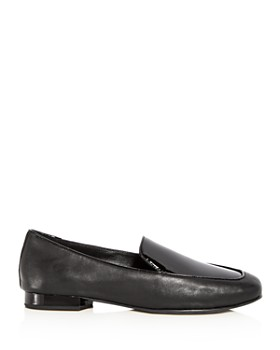 Donald Pliner - Women's Honey Leather & Patent Leather Loafers