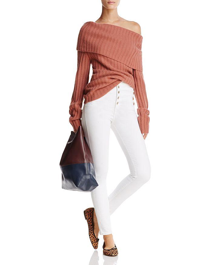 b970993a5784 J Brand - Natasha Sky-High Skinny Jeans in Blanc