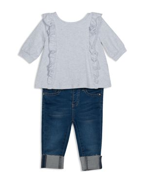 ag Adriano Goldschmied Kids Girls' Ruffled Top & Skinny Jeans Set - Little Kid 2727783