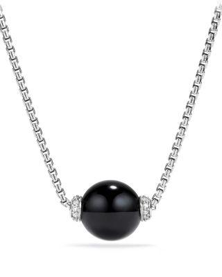 DAVID YURMAN Solari Pendant Necklace With Diamonds & Black Onyx