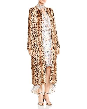 Haute Hippie Lili Marleen Leopard Print Fur Coat