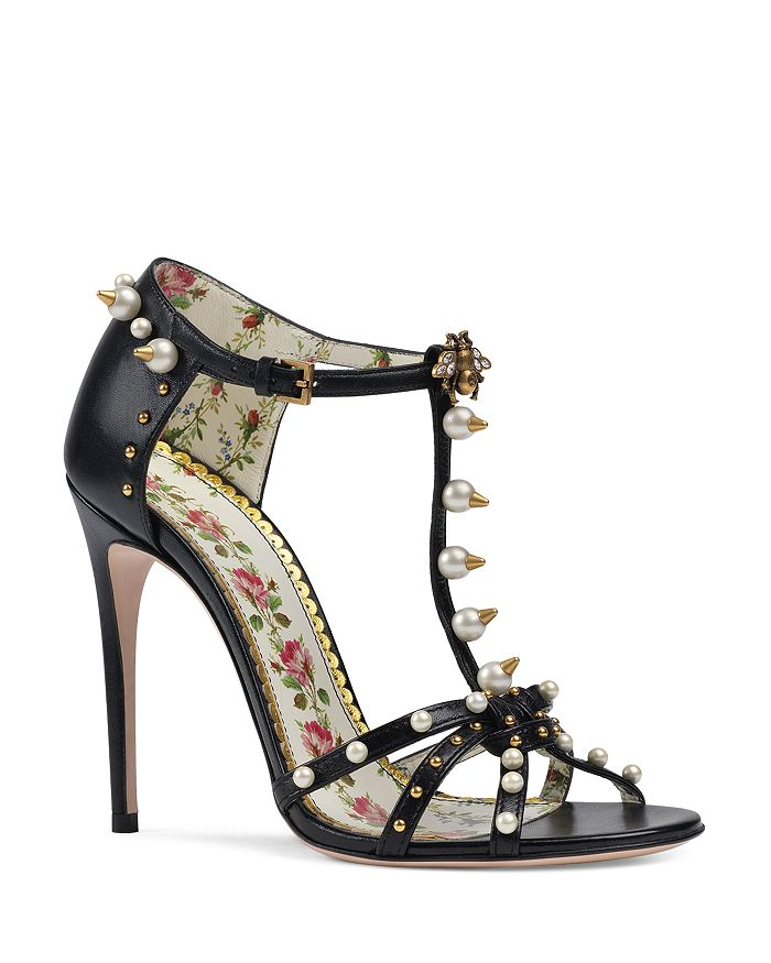 dd4da93bf201 Gucci Women s Regina Embellished Leather Strappy High-Heel Sandals ...