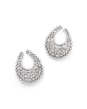 Bloomingdale's Diamond Statement Hoop Earrings in 14K White Gold, 3.85 ct. t.w. - 100% Exclusive