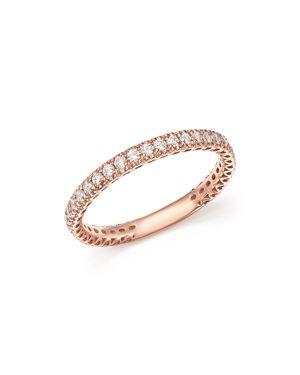 Bloomingdale's Heart Openwork Diamond Ring in 14K Rose Gold, 0.25 ct. t.w. - 100% Exclusive