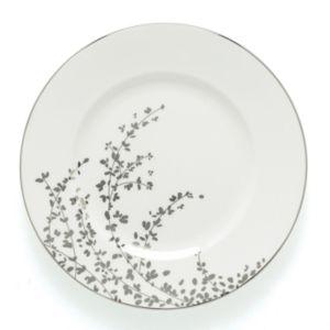 kate spade new york Gardner Street Platinum Dinner Plate