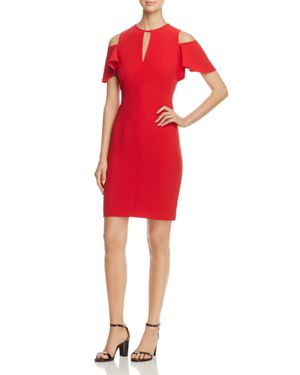 Elie Tahari Oleandra Cold-Shoulder Sheath Dress