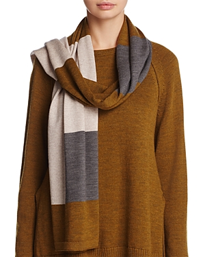Eileen Fisher Color-Block Collection Merino Wool Scarf at Bloomingdale's