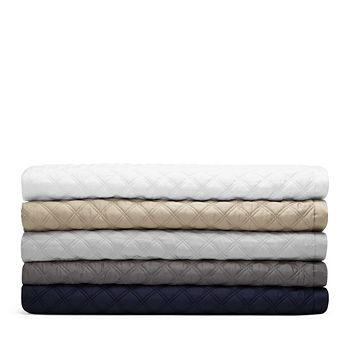 Hudson Park Collection - Double Diamond Coverlet, Twin - 100% Exclusive