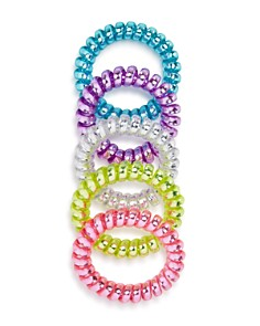 Capelli Girls' Iridescent Coil Hair Rings, Pack of 5 - Bloomingdale's_0