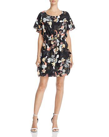 Cooper & Ella - Raquel Ruffled Floral-Print Shift Dress