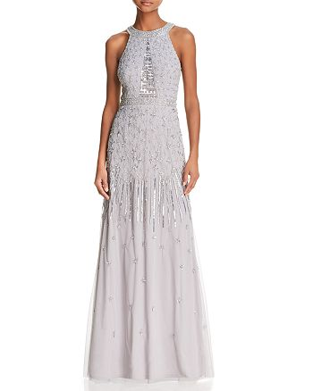 Adrianna Papell - Embellished Tulle Gown - 100% Exclusive