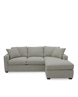 Bloomingdale's Artisan Collection - Noah Sleeper Sofa with Storage Ottoman