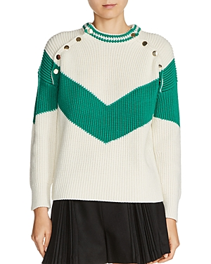Maje Mariana Color Block Sweater