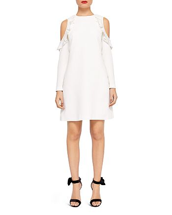Ted Baker - Siiara Ruffled Cold-Shoulder Dress