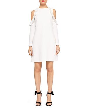 Ted Baker Siiara Ruffle Cold-Shoulder Dress