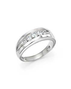 Bloomingdale's - Men's Diamond Five-Stone Band in 14K White Gold, 0.50 ct. t.w. - 100% Exclusive