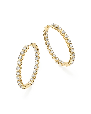 Bloomingdale's DIAMOND INSIDE-OUT HOOP EARRINGS IN 14K YELLOW GOLD, 5.0 CT. T.W. - 100% EXCLUSIVE