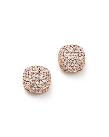 Bloomingdale's - Diamond Pavé Cushion Stud Earrings in 14K Rose Gold, 0.50 ct. t.w. - 100% Exclusive