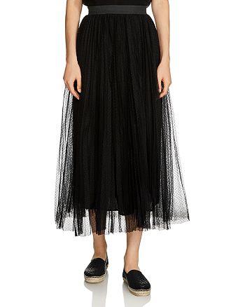 Maje - Jesi Tulle Midi Skirt