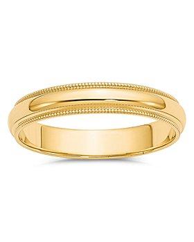 Bloomingdale's - Men's 4mm Milgrain Half Round Wedding Band 14K Yellow Gold - 100% Exclusive