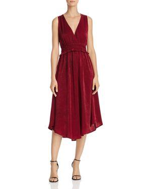 Re: Named Valerie Ruffled-Waist Midi Dress